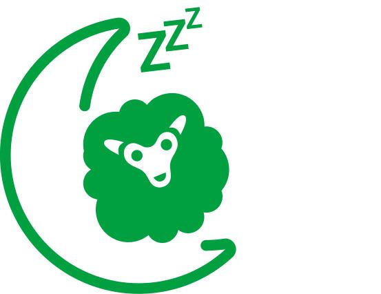 Icoon voor slaapcomfort