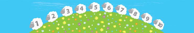 Wollen kinderdekbedden banner - schaapjes tellen