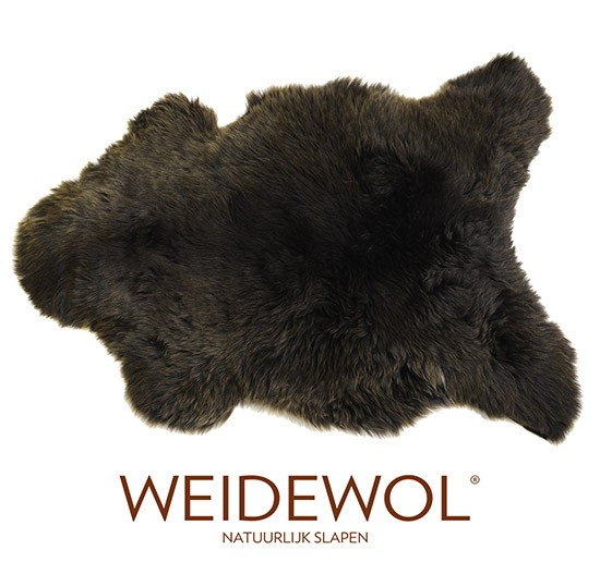 Afbeeldingen van de Weidewol lamsvacht bruin