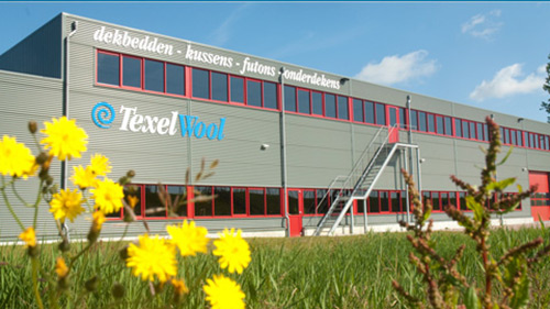 De fabriek van Texeler dekbedden op Texel
